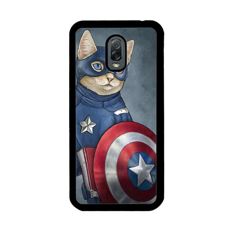 Flazzstore Captain America Cat Z0998 Custom Casing for Samsung Galaxy J7 Plus