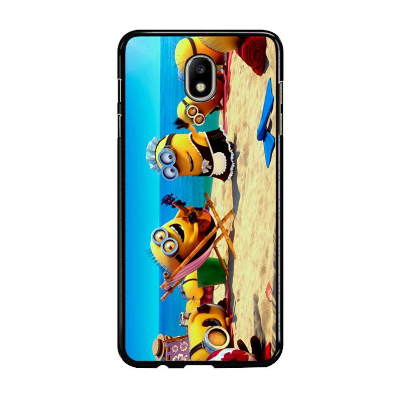 Flazzstore Minions In Beach Vocation Z0465 Custom Casing for Samsung Galaxy J7 Pro 2017