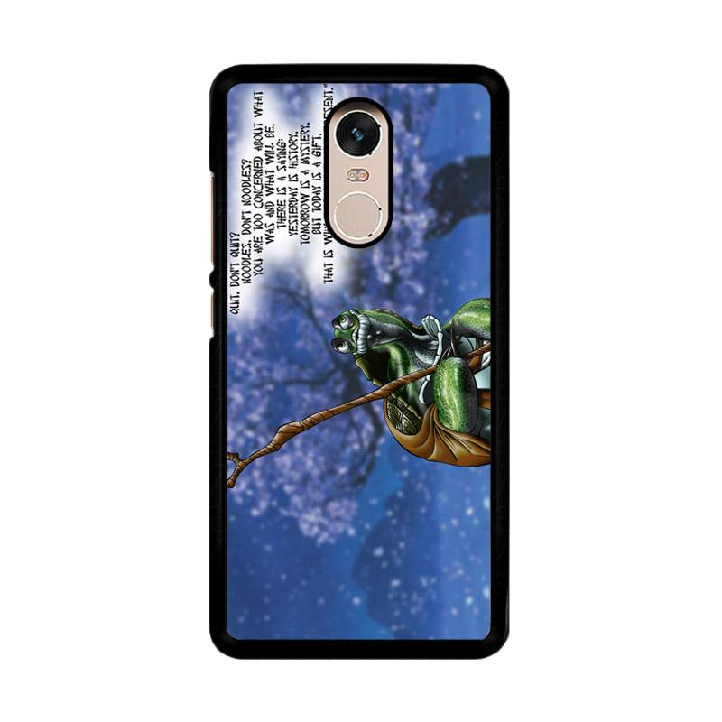 Flazzstore Kung Fu Panda Turtle Quote Z0967 Custom Casing for Xiaomi Redmi Note 4 or Note 4X Snapdragon Mediatek