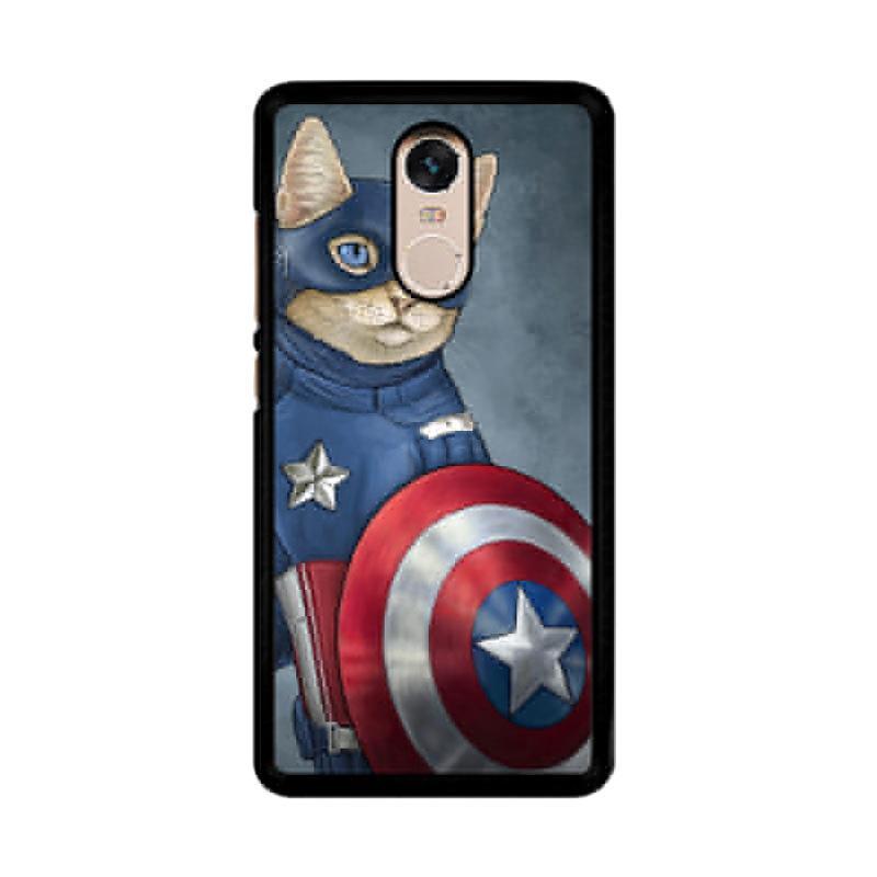 Flazzstore Captain America Cat Z0998 Custom Casing for Xiaomi Redmi Note 4 or Note 4X Snapdragon Mediatek
