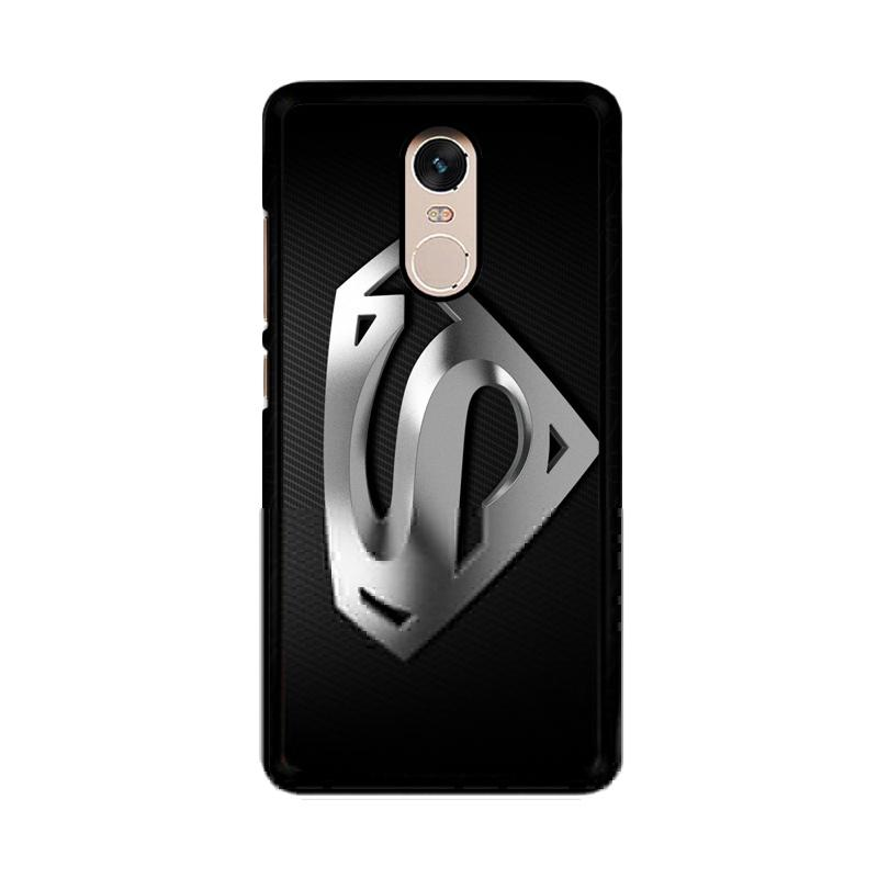 Flazzstore Superman Silver Logo Z1291 Custom Casing for Xiaomi Redmi Note 4 or Note 4X Snapdragon Mediatek