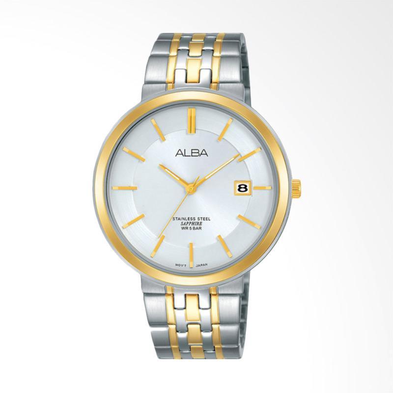 Alba Jam Tangan Pria - Silver [AS9D76X1]