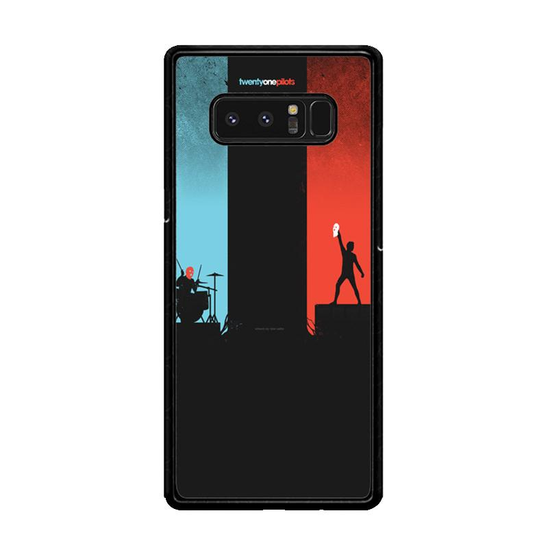 Flazzstore Twenty One Pilots Red And Blue Z0984 Custom Casing for Samsung Galaxy Note8
