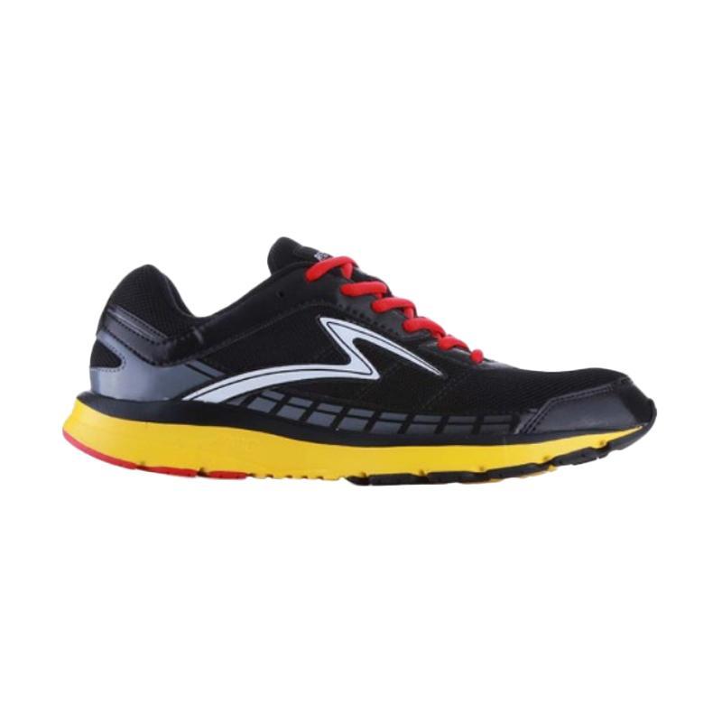 Specs Road Runner Sepatu Lari Pria - Black Yellow [200445]