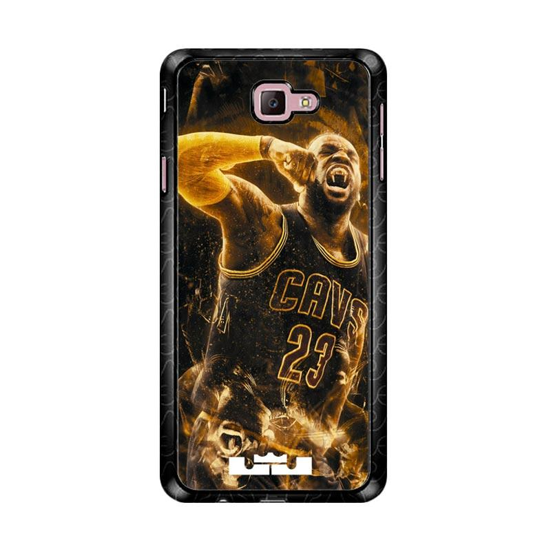 Flazzstore Lebron James Fire Z4789 Custom Casing for Samsung Galaxy J7 Prime