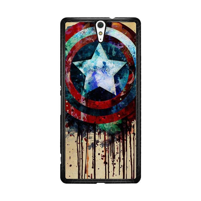Flazzstore Captain America Shield Art F0155 Custom Casing for Sony Xperia C5 Ultra