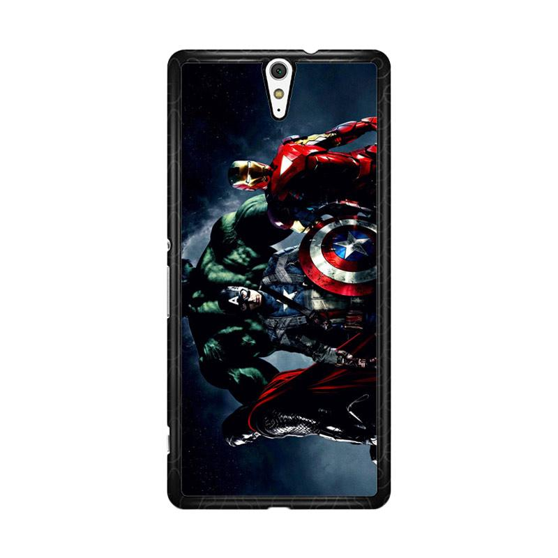 Flazzstore Avenger Captain America Thor Hulk And Iron Man F0152 Custom Casing for Sony Xperia C5 Ultra