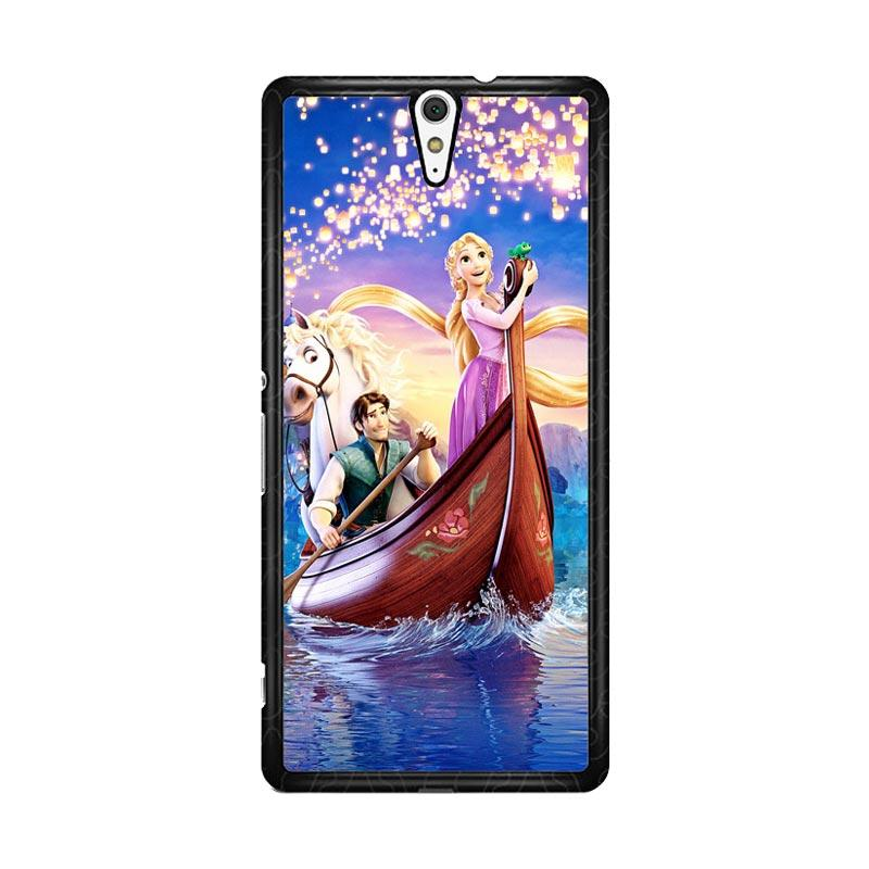 Flazzstore Disney Rapunzel Cover Book Z0075 Custom Casing for Sony Xperia C5 Ultra