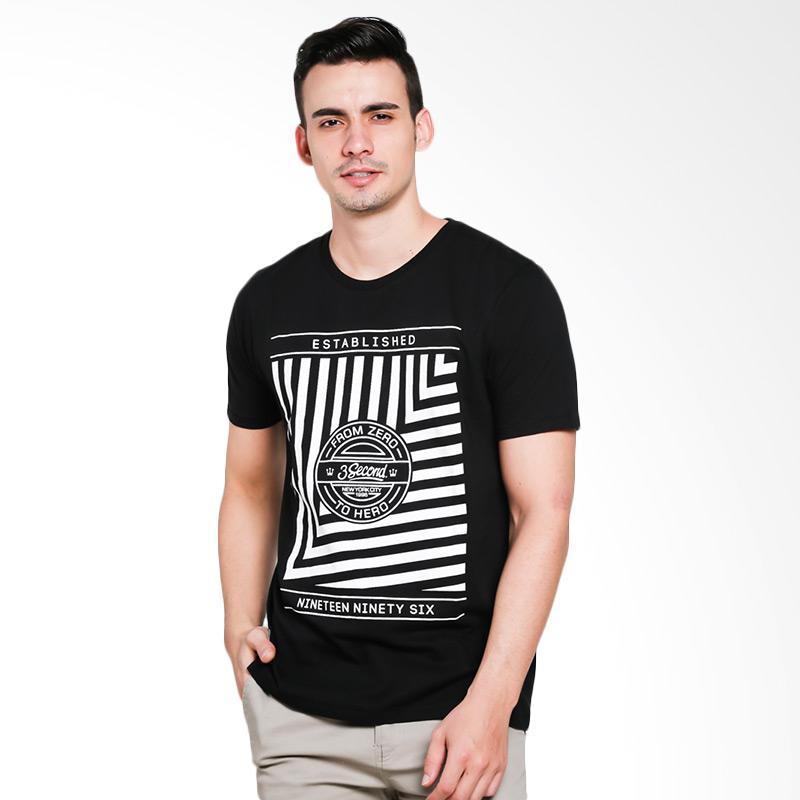 3SECOND 0501 Men Tshirt - Black