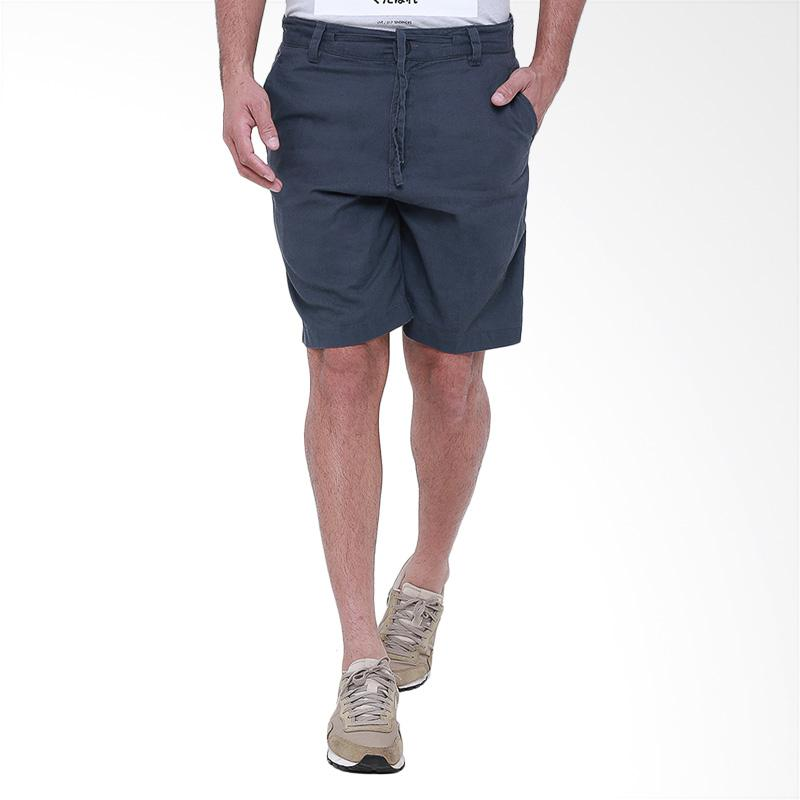 Tendencies Charc Linen Short Pants Celana Pria - Navy