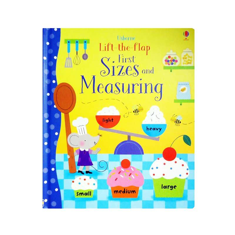 Genius Usborne Lift The Flap First Sizes and Measuring with Over 60 Flaps to Lift Buku Edukasi