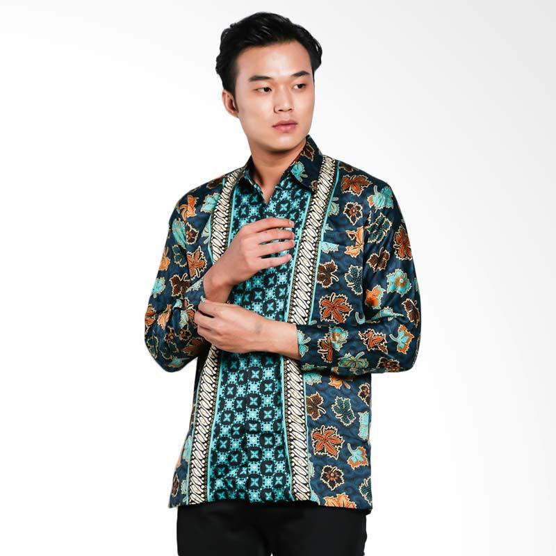 Blitique Agneya Nitik Kemeja Batik Pria - Cream