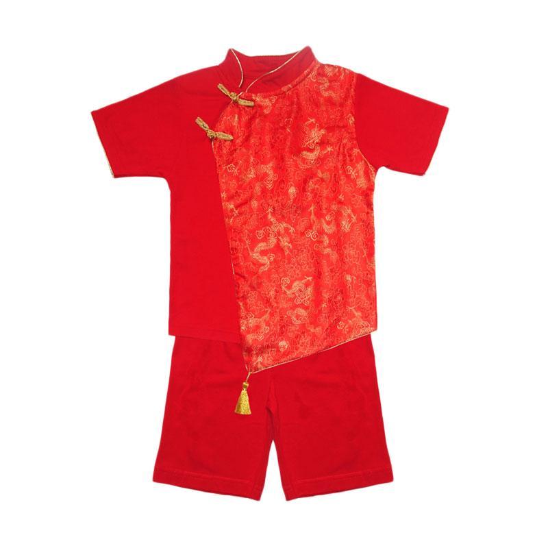 Eyka 4230 Re Tazel Toddler Imlek Setelan Anak - Red
