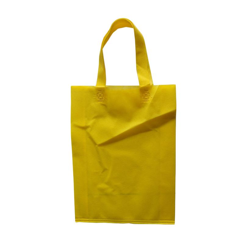 HBS Spunbond Polos Tas Kain Goodie Bag - Kuning [25 x 35 x 9 cm]