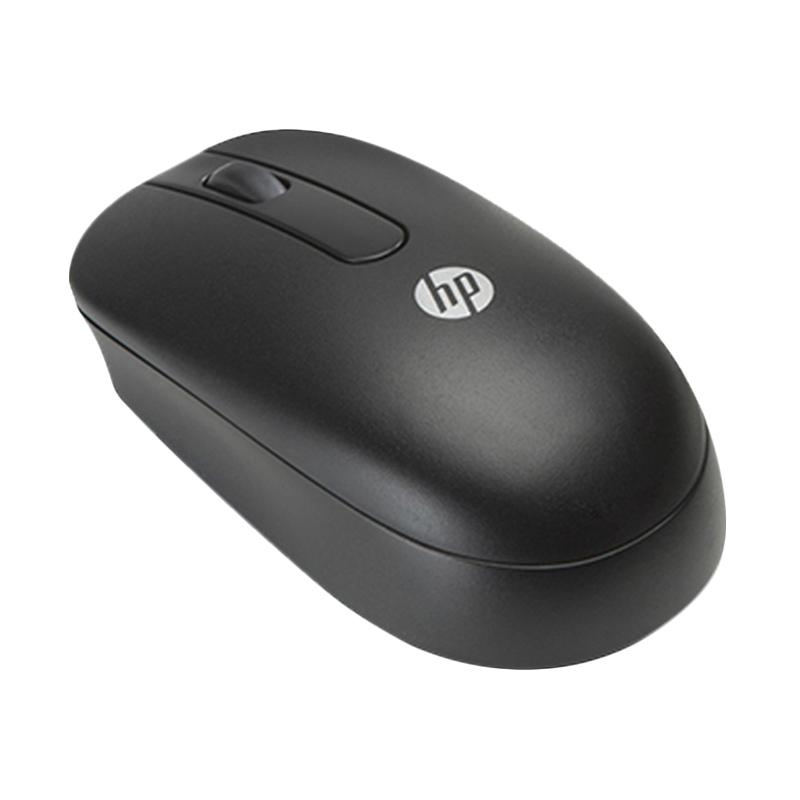 HP Wired Optical USB Scroll Mouse - Hitam