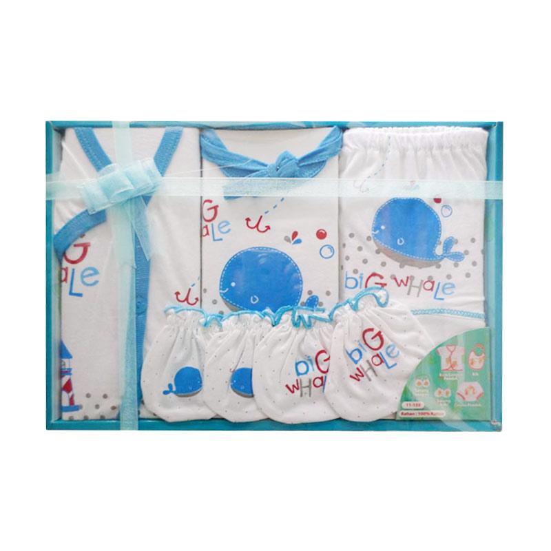 Kiddy Baby 11159 Big Whale Gift Set Pakaian Bayi - Biru