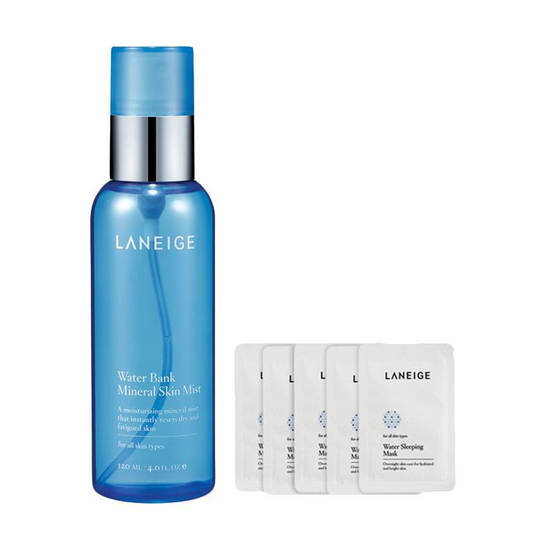 harga Laneige Water Bank Mineral Skin Mist Set Pelembab Wajah [120 mL] Blibli.com