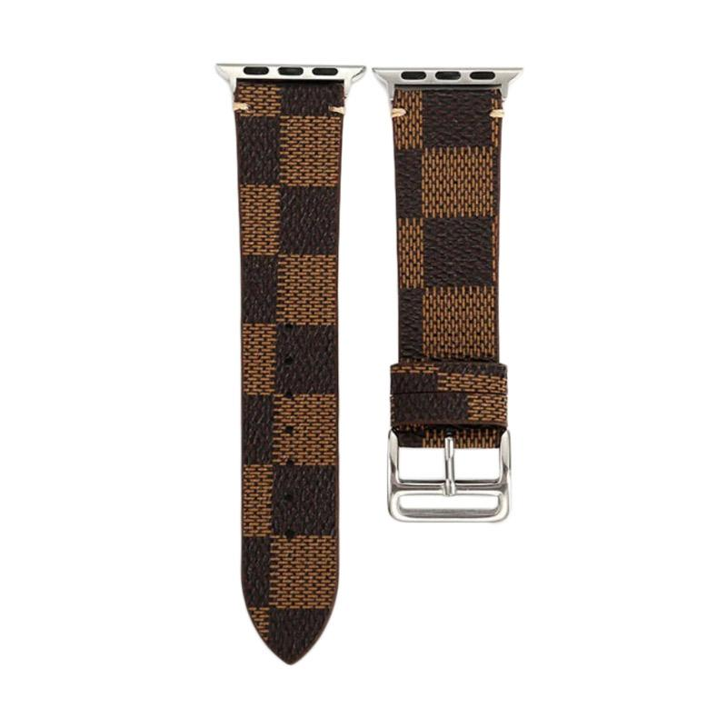 LOLLYPOP Checkers Strap for Apple Watch - Brown [38 mm]