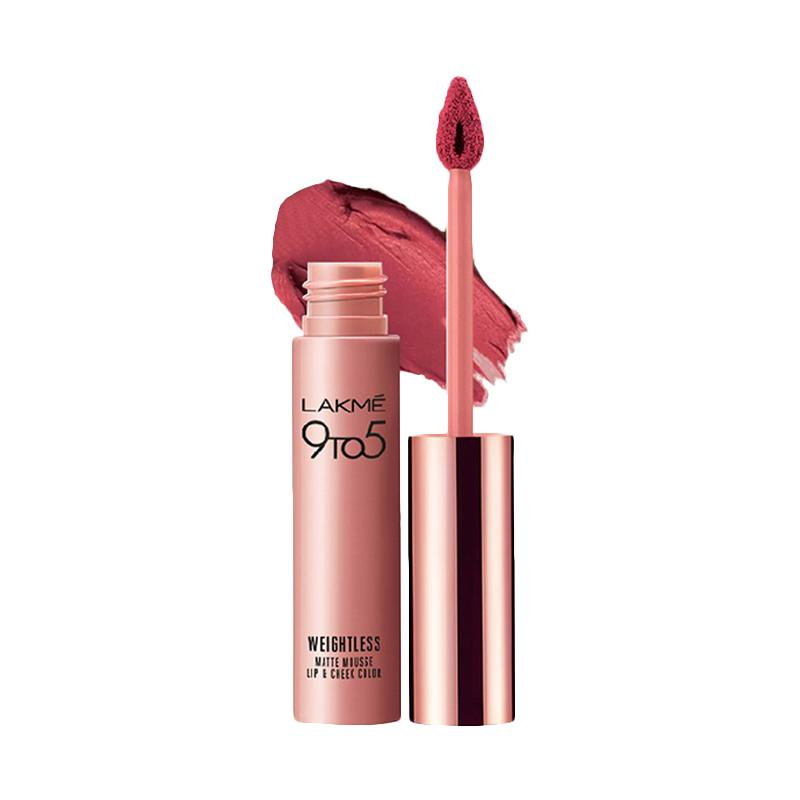 Lakme 9to5 Reinvent Weightless Matte Lip Cream Plum Feather