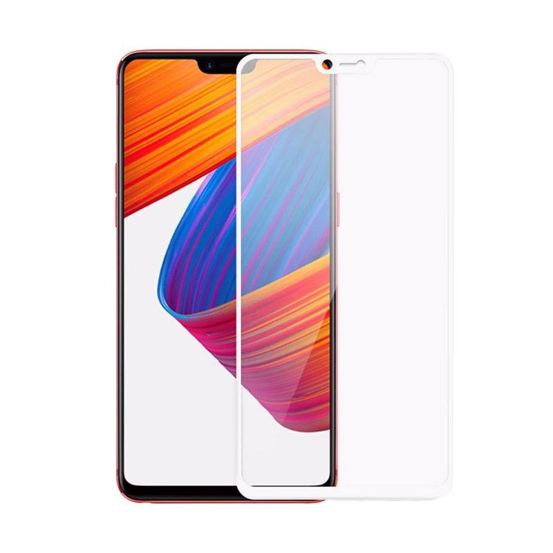 Jual Tempered Glass Full Screen Protector For Oppo F7 White Full