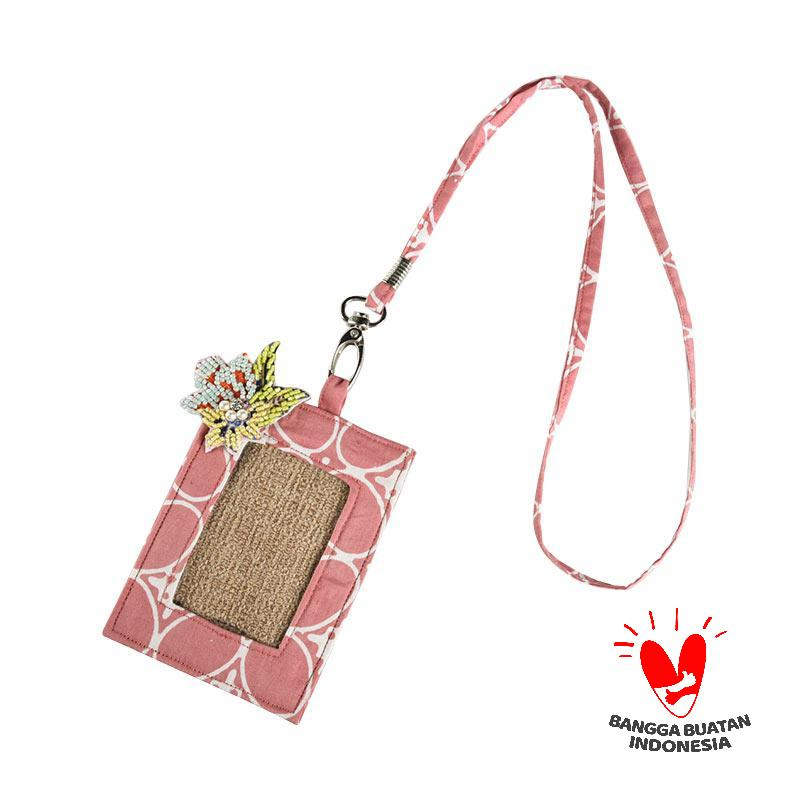 harga Origo Chain With Batik ID Card Holder - Merah Muda Blibli.com