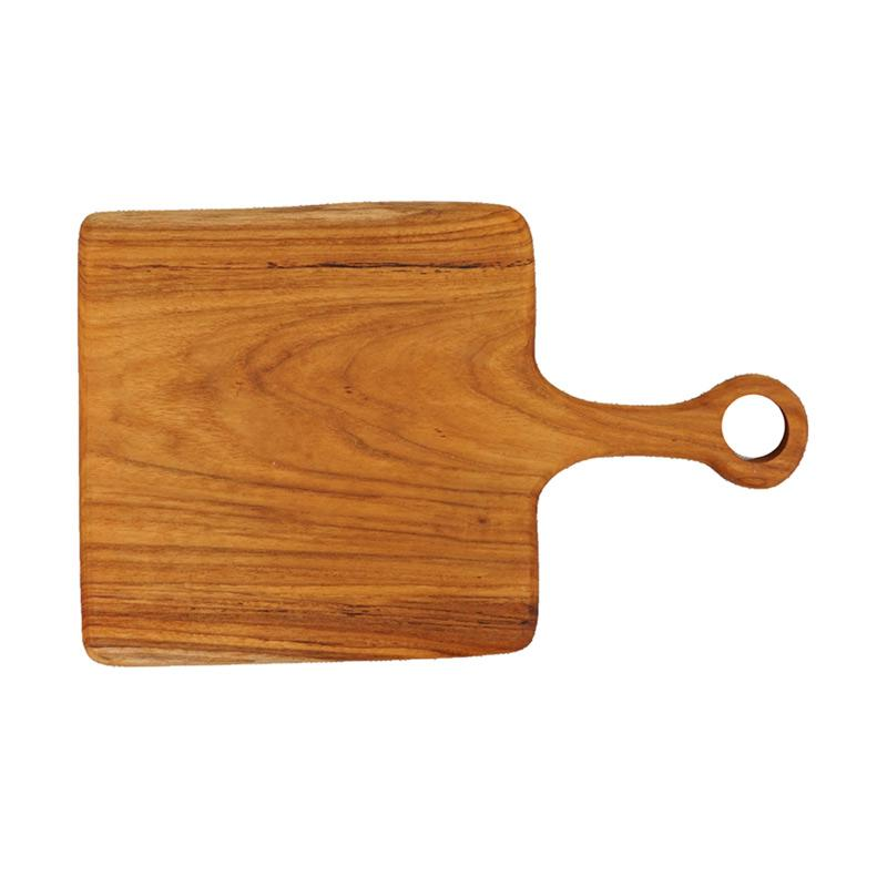 Nicole s Natural CBD Square Solid Wood Cutting Board