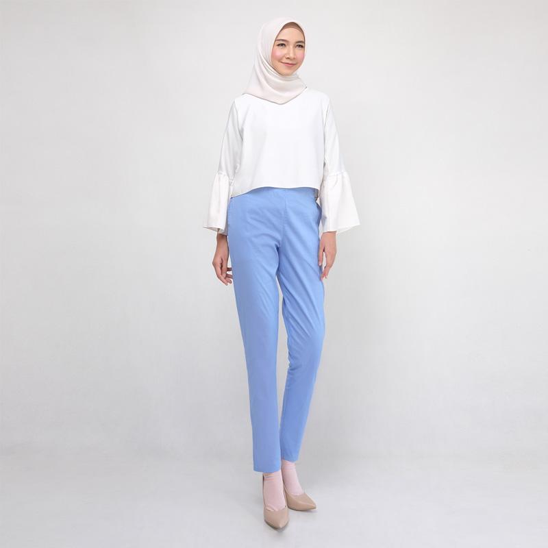 Jual Modesee M1125 Celana Legging Katun Wanita Blue Jeans Online Oktober 2020 Blibli Com