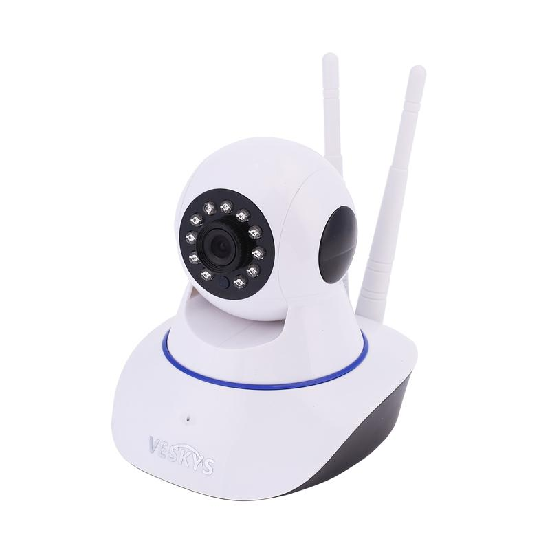 Blue Plater Smart Baby Monitor WiFi Video Home Security Camera with P2P Night Vision Record Video Two-Way Audio Motion Detected Support TF Card for iPhone iPad Android Smartphone