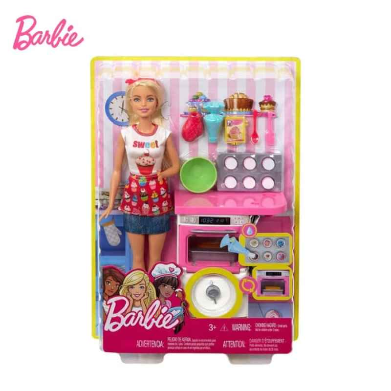 Jual Barbie Bakery Chef Doll And Playset Boneka Permainan Toy Online November 2020 Blibli Com