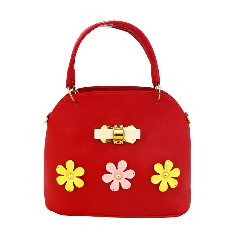 harga Panda Handmade Alma Flowers Ribbon Tas Wanita - Red Blibli.com