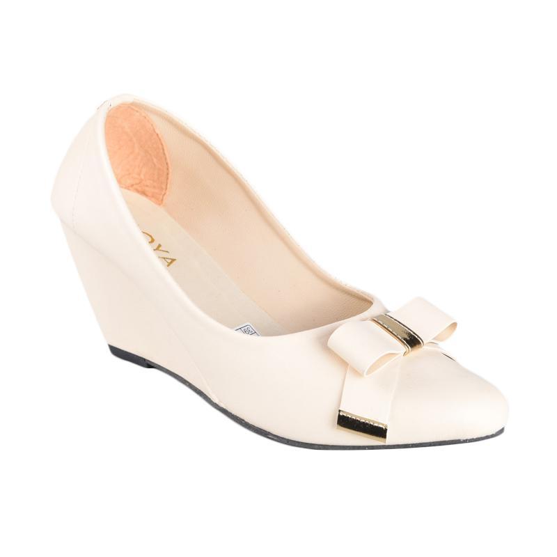RSM SN-007 Sepatu Wedges Wanita - Cream