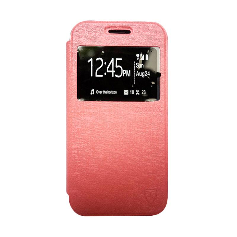 ZAGBOX Flip Cover Casing for Vivo Y28 - Pink