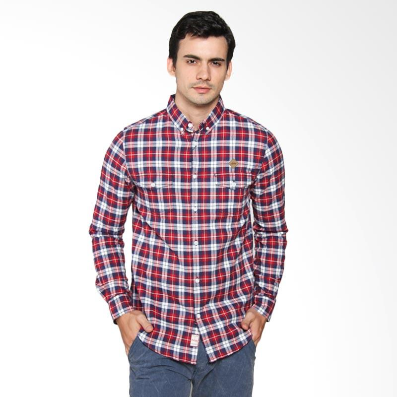 3SECOND Relaxed 2 Fit Man Shirt - Red [112031711]