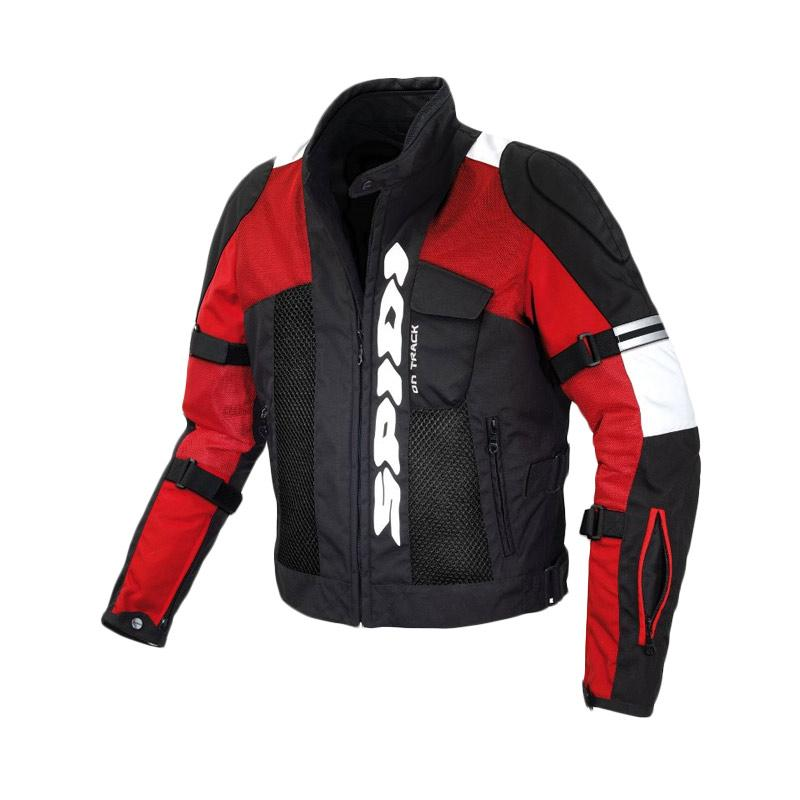 Spidi Net Race Jaket Motor - Black Red