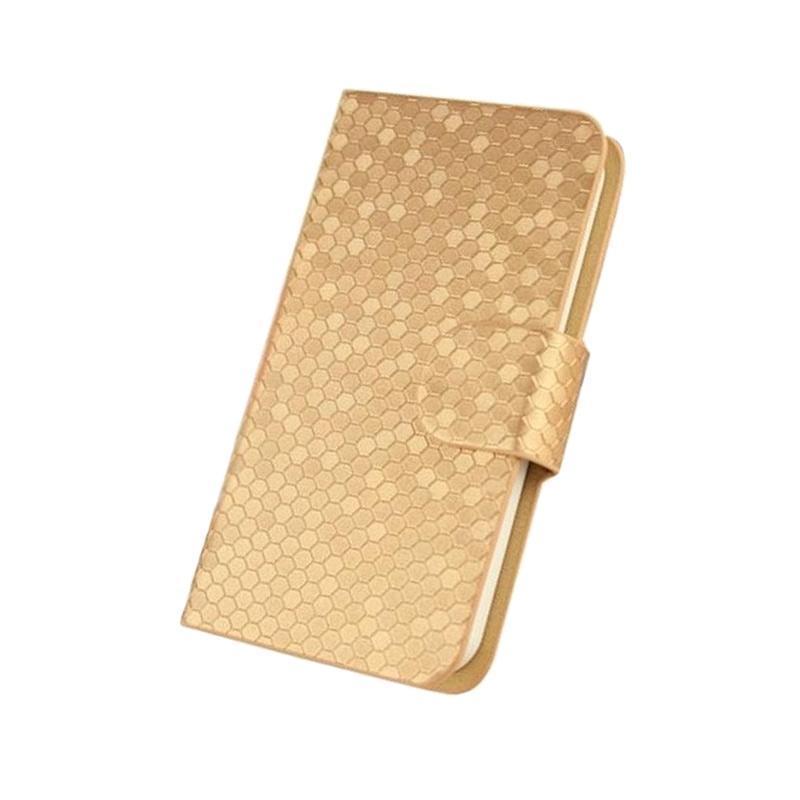 OEM Glitz Flip Cover Casing for Vivo Y33 L - Emas