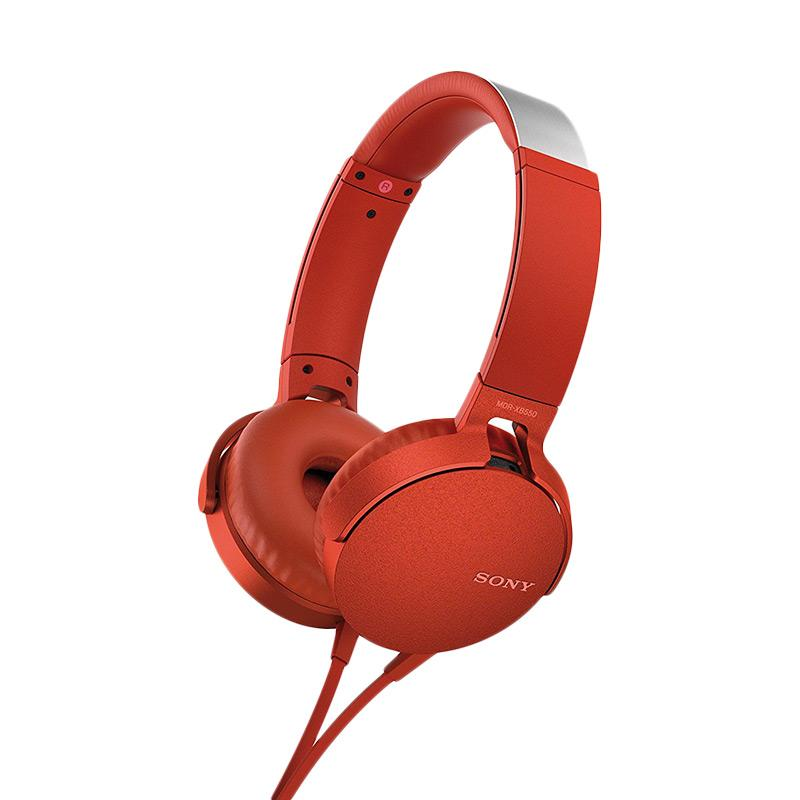 Sony XB-550AP Extra Bass Headset - Red