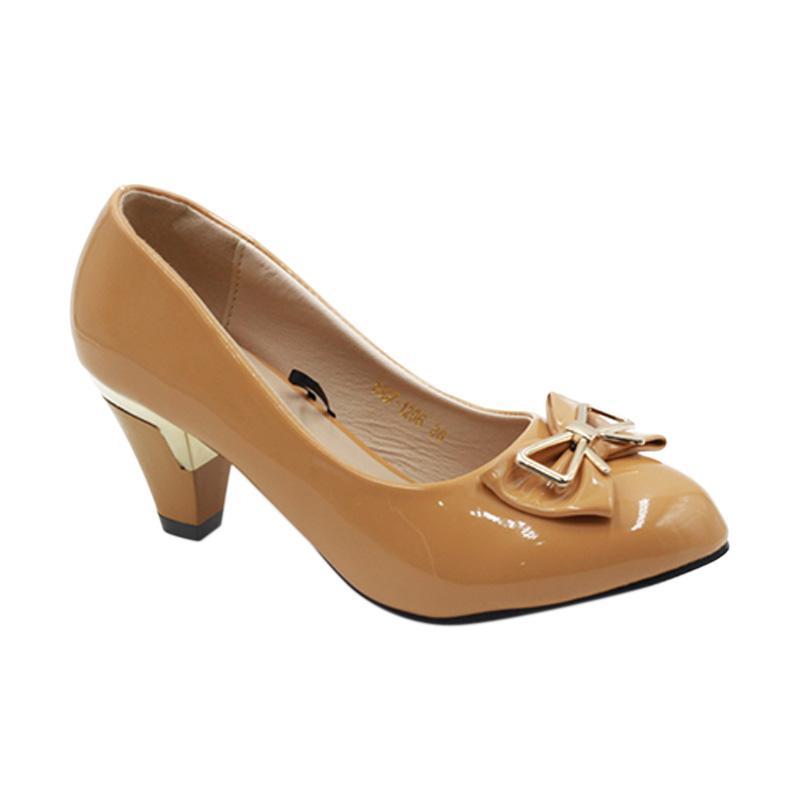Dea 1607-1206 Sepatu Fantofel Wanita Hak 7 cm - Camel