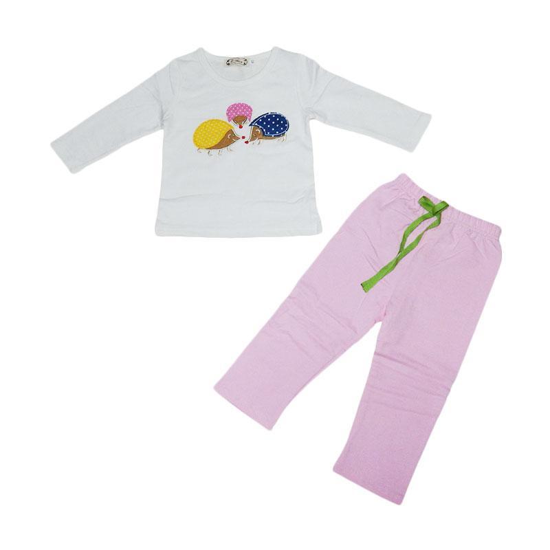 L.Nice Landak Setelan Anak - Pink Putih