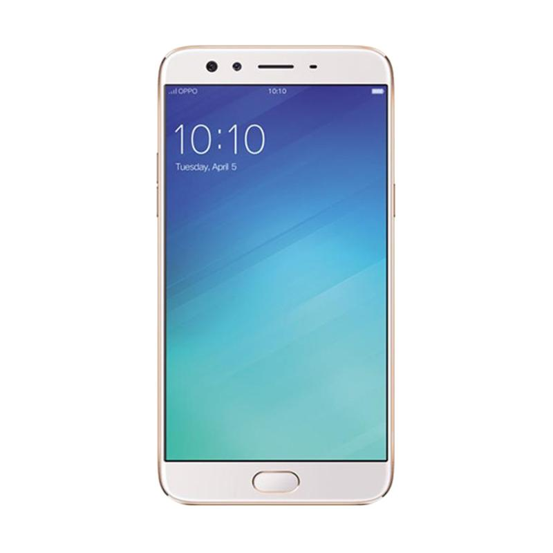 Oppo F3 Plus Smartphone - Gold [64GB/4GB] Free Headphone + I-Ring