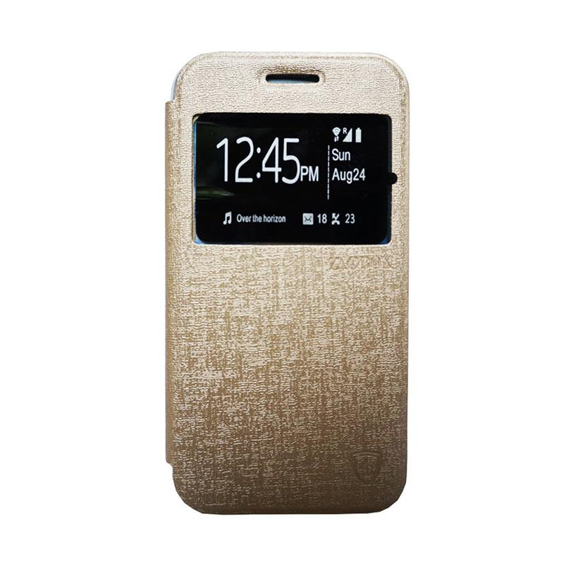 Zagbox Flip Cover Casing for Oppo Neo 5 - Gold