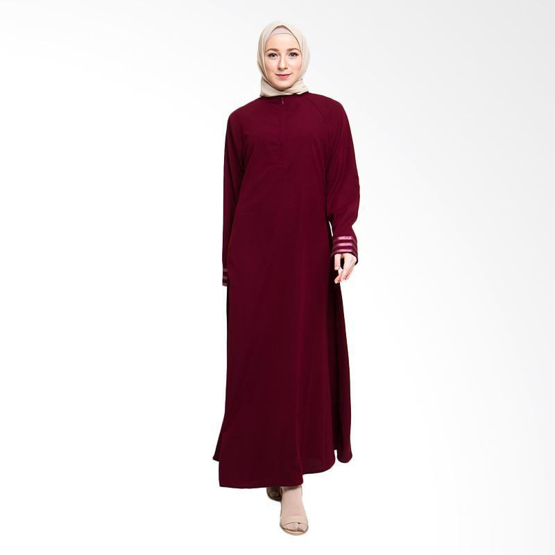 Allev Husna Dress Muslim - Maroon