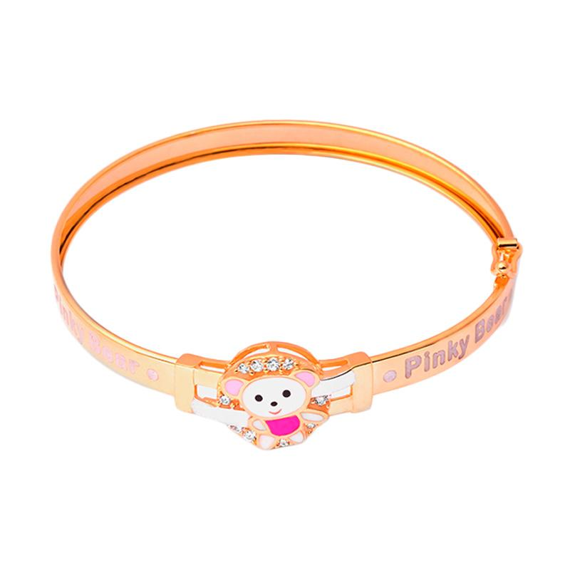Bear Gold Kids Bangle - Gelang Anak Emas Kadar 37.5