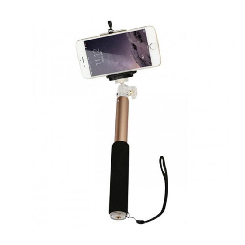 Remax Mini P5 Selfie Stick Cable Monopod - Gold