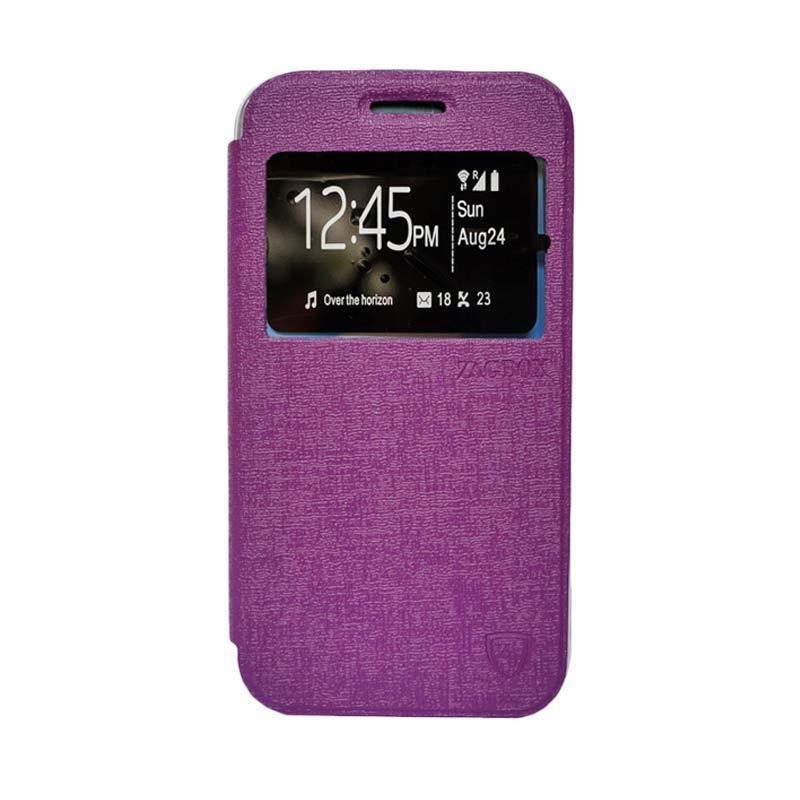 Zagbox Flip Cover Casing for iPhone 7 4.7 Inch - Ungu