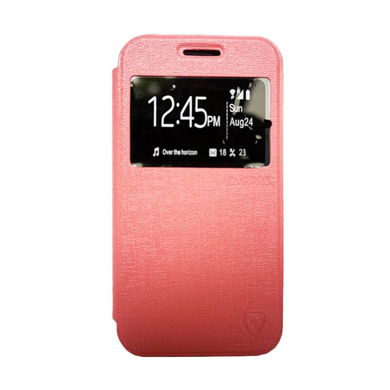 Zagbox Flip Cover Casing for Lenovo A5000 - Pink