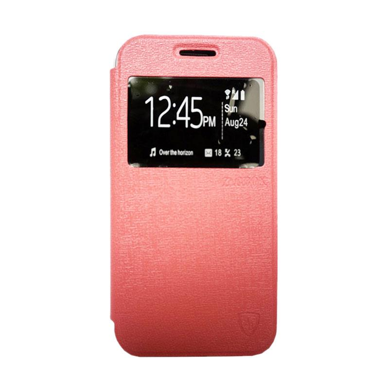 Zagbox Flip Cover Casing for Lenovo A6000 - Pink