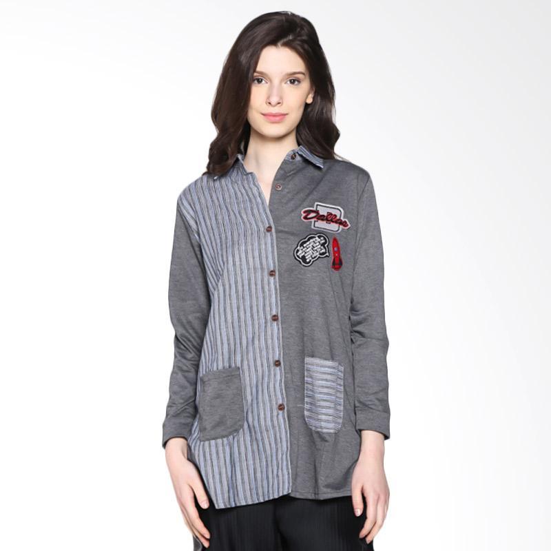 Carte Dallas Block Shirt Kemeja - Grey