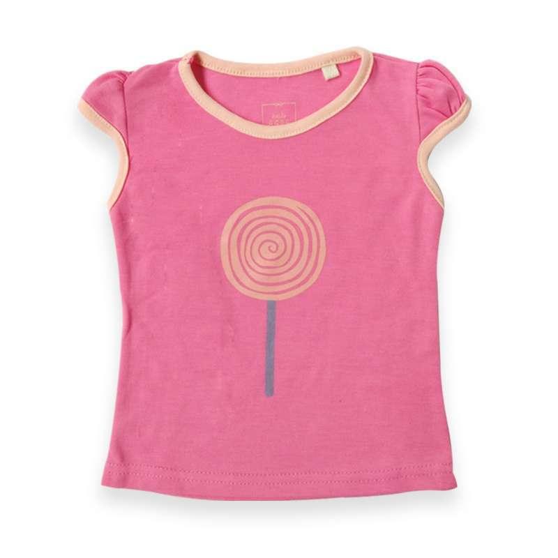 Little Agra La 8287 Tshirt Girl Tshirt Cewek Pink Barbie
