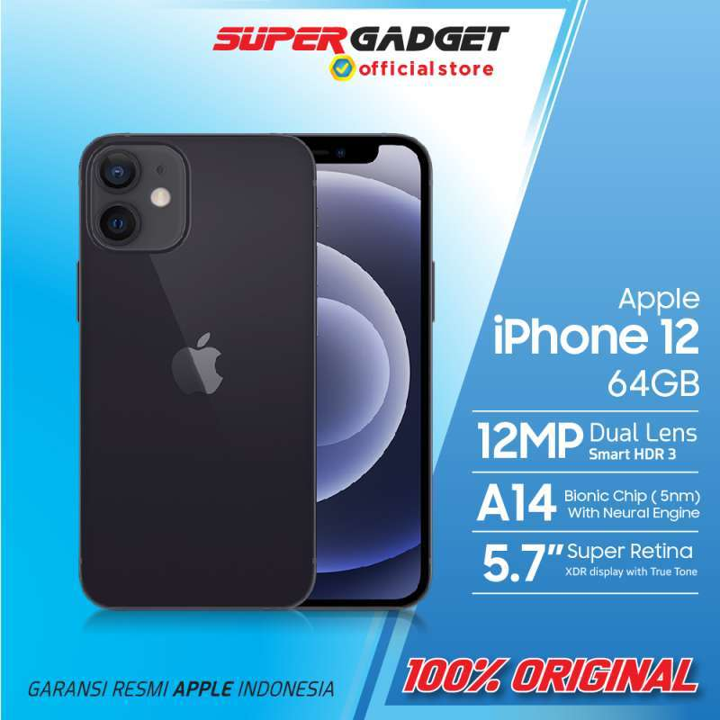Apple iPhone 12 Smartphone 64GB Garansi Resmi