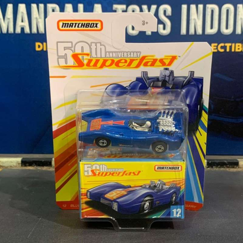 2019 MATCHBOX BLUE SHARK SUPERFAST 50TH ANNIVERSARY WITH LOGO FREE SHIPPING.